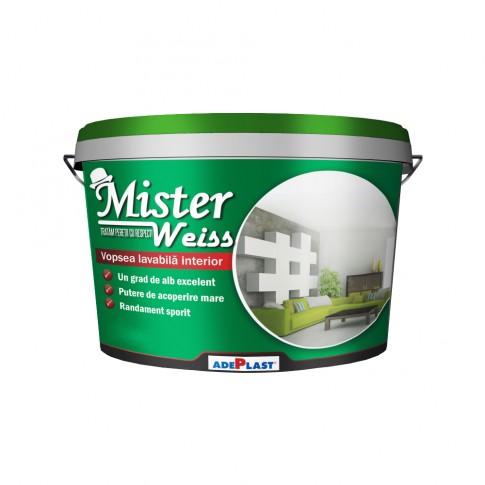 Vopsea lavabila interior, Mister Weiss, alba, 3 L