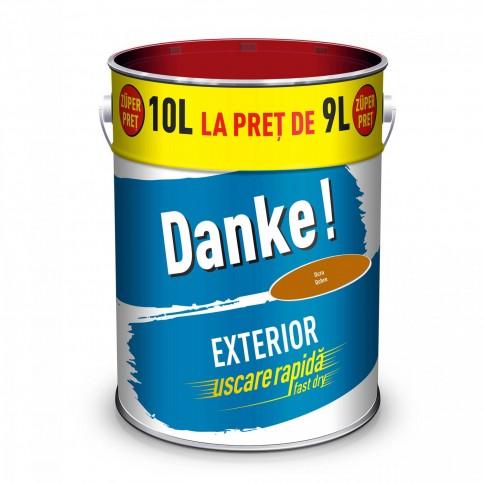 Vopsea alchidica pentru lemn / metal, Danke, exterior, ocru, 10 L