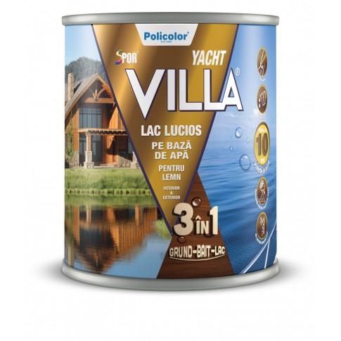 Lac pentru lemn Spor Villa Yacht, mahon, pe baza de apa, interior / exterior, 0.75 L