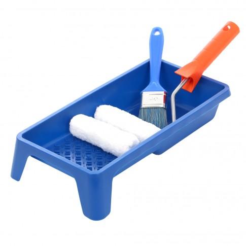 Trafalet microfibra + rola rezerva + tava + pensula Holzer Mini