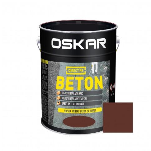 Vopsea acrilica Direct pe beton Oskar, interior / exterior, maro roscat, 10 L