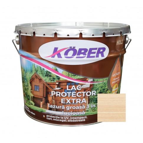 Lac / lazura groasa pentru lemn, Kober Extra 3 in 1, incolor, interior / exterior, 10 L