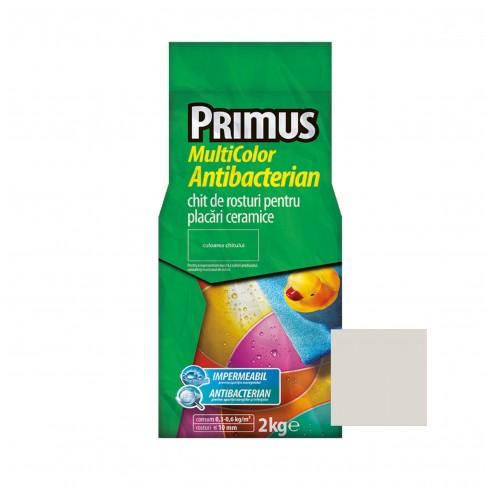 Chit de rosturi gresie si faianta Primus Multicolor Antibacterian B47 floral white, interior / exterior, 2 kg