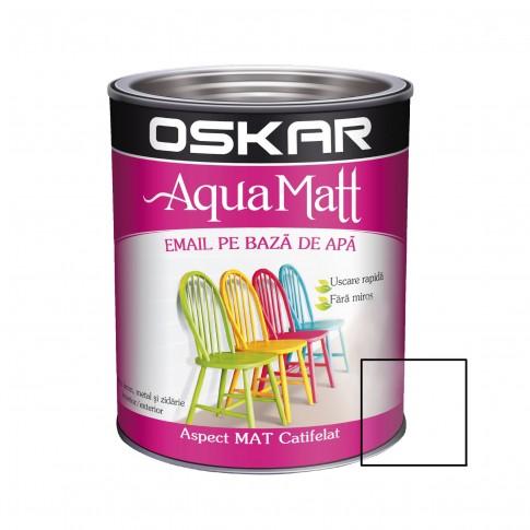 Vopsea pentru lemn / metal, Oskar Aqua Matt, interior / exterior, pe baza de apa, transparent, 2,5 l