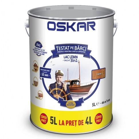 Lac pentru lemn Oskar Yacht, castan, interior / exterior, 5 L
