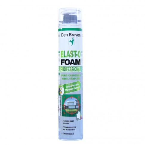 Spuma poliuretanica flexibila, aplicare cu pistol, Den Braven Elast O Foam, 750 ml