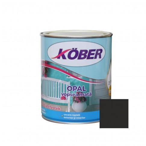 Vopsea alchidica pentru lemn / metal, Kober Opal, interior / exterior, negru, 2.5 L