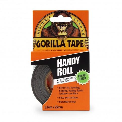 Banda adeziva Gorilla Handy Roll, 2.5 cm x 9.14 m