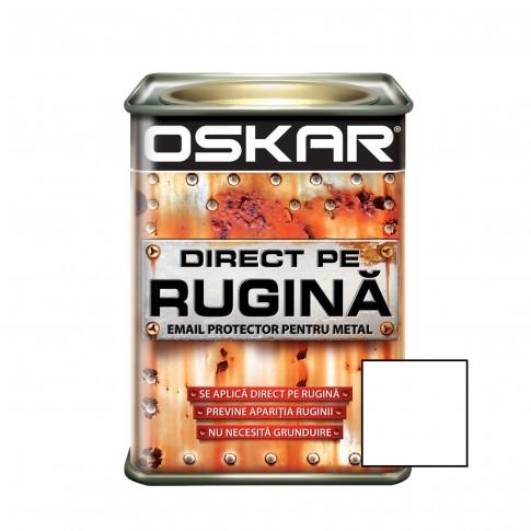 Vopsea alchidica Direct pe rugina Oskar, interior / exterior, alb mat, 0.5 L