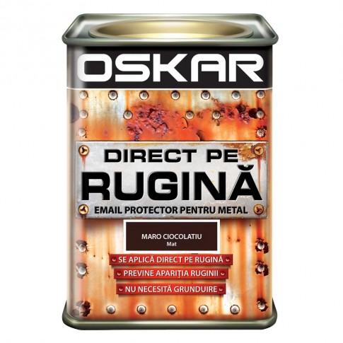 Vopsea alchidica Direct pe rugina Oskar, interior / exterior, maro ciocolatiu mat, 0.5 L