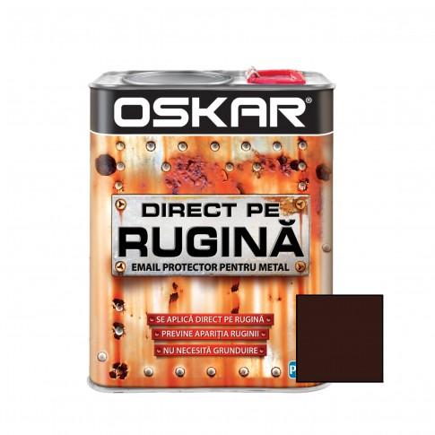 Vopsea alchidica Direct pe rugina Oskar, interior / exterior, maro ciocolatiu mat, 2.5 L