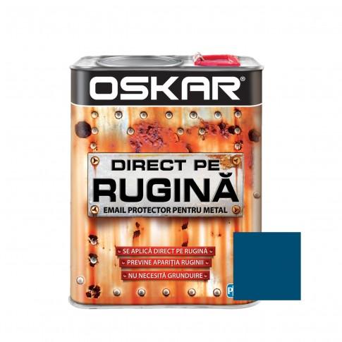 Vopsea alchidica Direct pe rugina Oskar, interior / exterior, albastru denim mat, 2.5 L