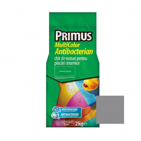 Chit de rosturi gresie si faianta Primus Multicolor Antibacterian B50 arsenic, interior / exterior, 2 kg