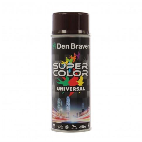 Spray vopsea, Den Braven Super Color Universal, maro ciocolatiu, RAL 8017, interior / exterior, 400 ml