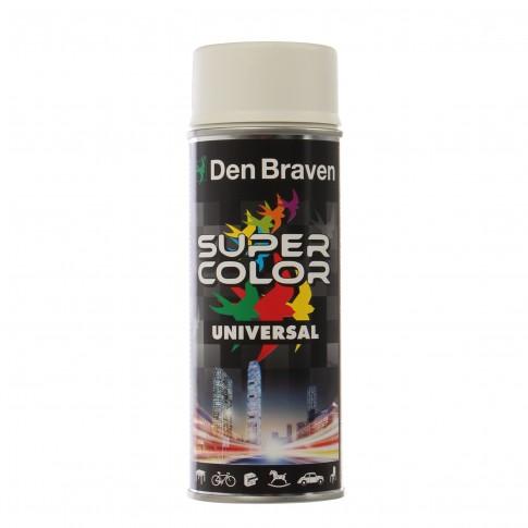 Spray vopsea, Den Braven Super Color Universal, alb mat, RAL 9010, interior / exterior, 400 ml