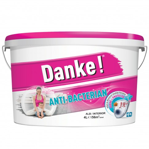 Vopsea lavabila interior, Danke Anti - bacterian, alba, 4 L