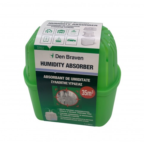 Dezumidificator / aparat absorbtie umiditate Den Braven Clasic, interior, 450 g