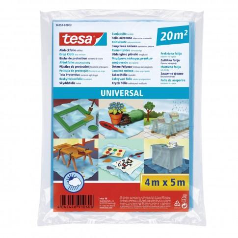 Folie protectie universala, tesa 56651, 0.007 mm, 5 x 4 m
