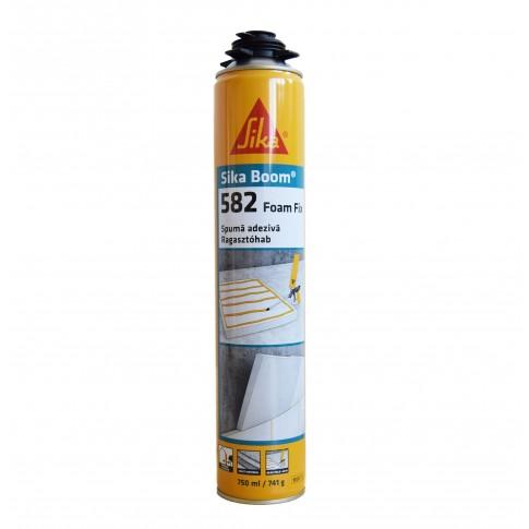 Spuma poliuretanica pentru polistiren, aplicare cu pistol, Sika Boom®-582 Foam Fix, 750 ml