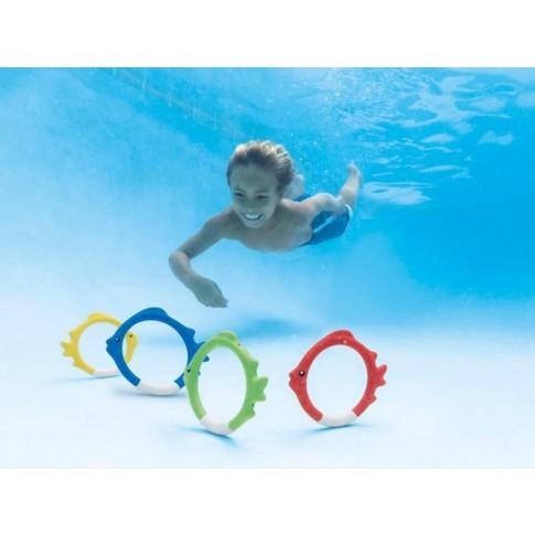 Inele pentru piscina, forma peste, Intex 55507, set 4 buc