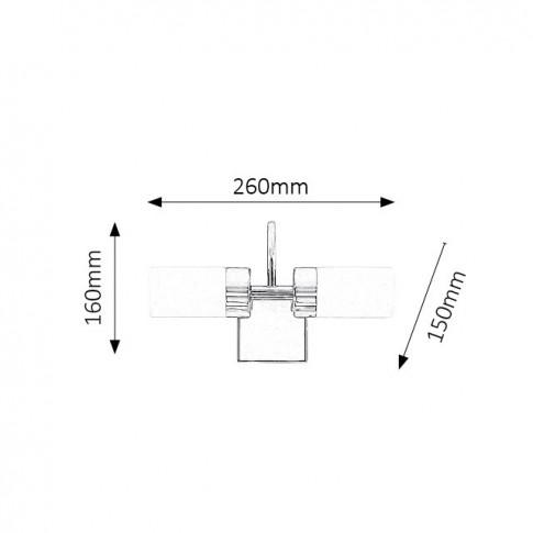 Aplica LED pentru baie Betty 5714, 2 x 4W, IP44, lumina neutra 4000 K, IP44, crom