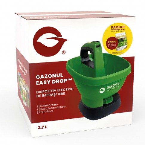 Dispozitiv imprastiere seminte si fertilizant Gazonul Easy Drop, electric