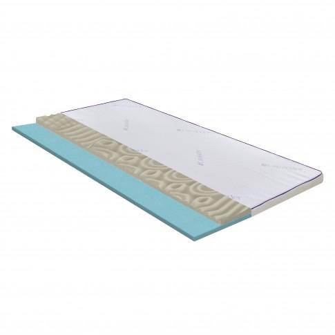 Topper saltea Bedora Dual Confort Lavanda Therapy Memory, 180 x 200 cm, cu spuma poliuretanica + memory