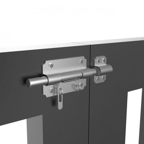 Zavor pentru usi / porti metalice, cu prindere lacat, otel, 10 mm