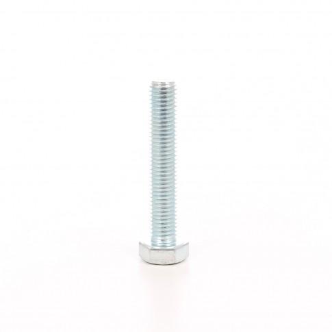 Surub cu cap hexagonal, filetat complet, otel, zincat alb, DIN933-8.8, M14 x 80 mm