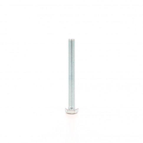 Surub cu cap hexagonal, filetat complet, otel, zincat alb, DIN933-6.8, M12 x 100 mm