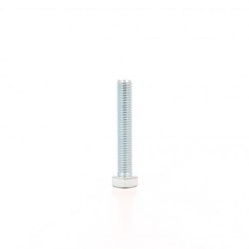 Surub cu cap hexagonal, filetat complet, otel, zincat alb, M18 x 80 mm
