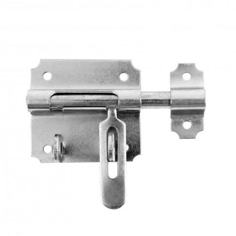 Zavor pentru usi / porti metalice, cu prindere lacat, otel, 14 mm