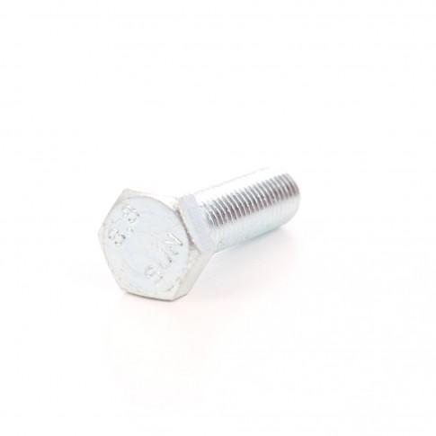 Surub cu cap hexagonal, filetat complet, otel, zincat alb, M14 x 60 mm