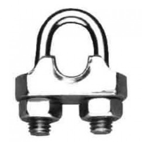 Brida zincata, Cablero ID011A13A, pentru legare cablu otel de 13 mm