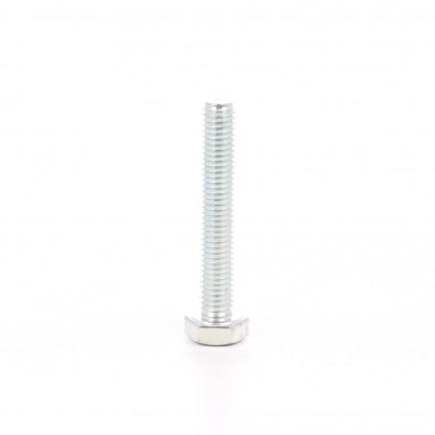 Surub cu cap hexagonal, filetat complet, otel, zincat alb, M8 x 50 mm