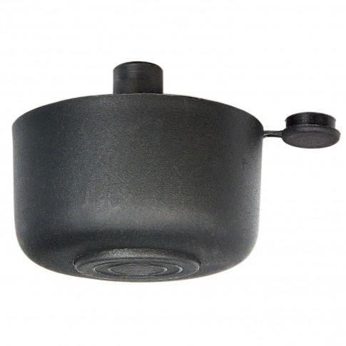 Picior mobila, universal, metalic, reglabil, negru, rotund, 26 mm