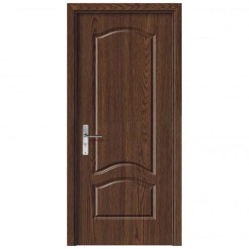 Usa de interior din lemn, SuperDoor F04-78-S, stanga / dreapta, stejar inchis, 203 x 78 cm