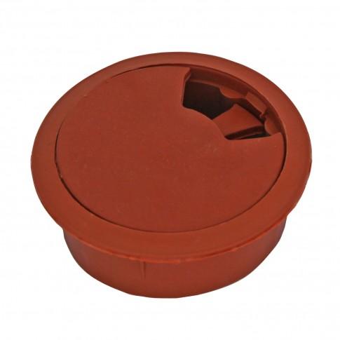 Suport pentru trecere cabluri, din plastic, maro, D 60 mm