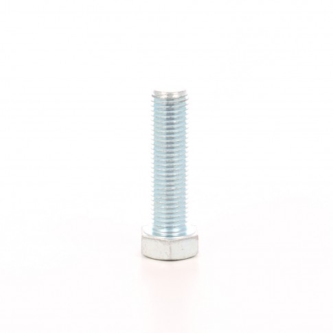 Surub cu cap hexagonal, filetat complet, otel, zincat alb, DIN933-8.8, M16 x 50 mm