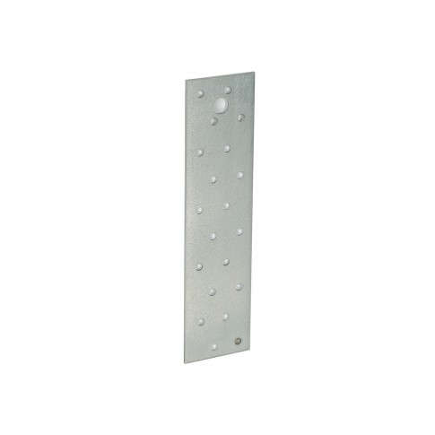 Placa perforata plata, pentru constructii din lemn, din otel zincat alb, 50 x 200 mm