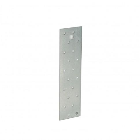 Placa perforata plata, pentru constructii din lemn, din otel zincat alb, 40 x 160 mm