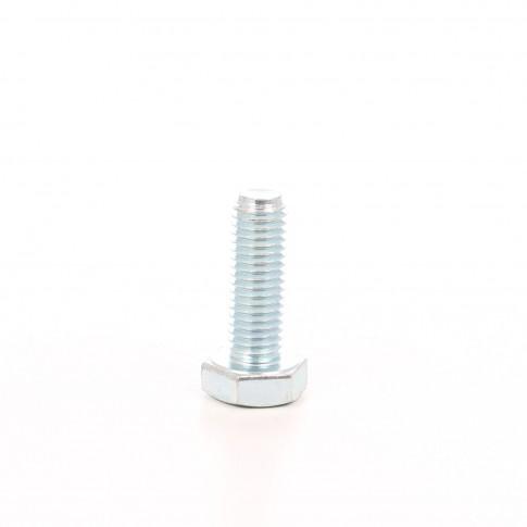 Surub cu cap hexagonal, filetat complet, otel, zincat alb, M10 x 20 mm