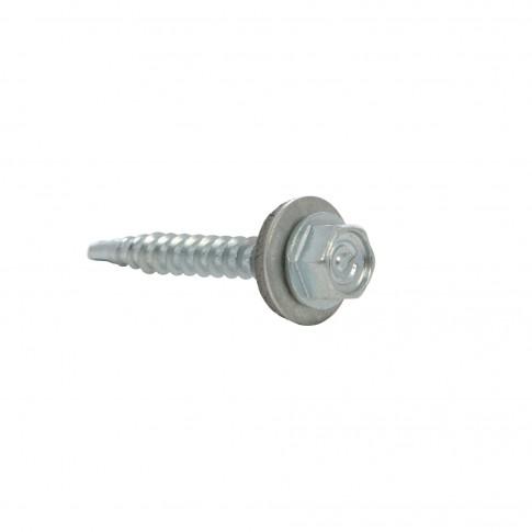 Surub pentru tigla metalica, autoforant, Gunnebo, zinc, 4,8 x 35 mm, 250 bucati