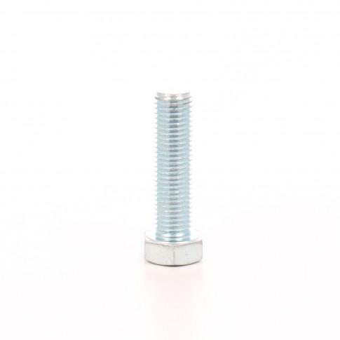 Surub cu cap hexagonal, filetat complet, otel, zincat alb, M16 x 60 mm
