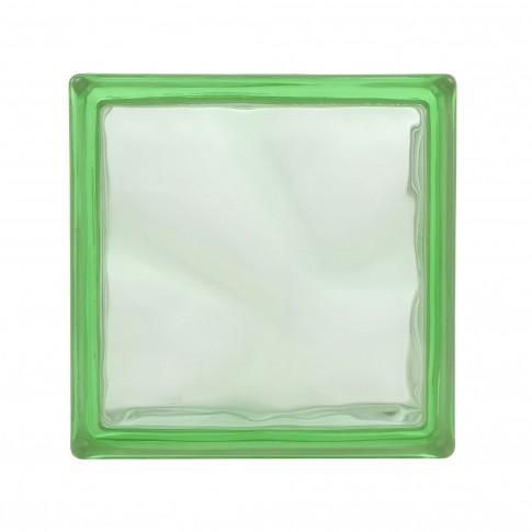 Caramida sticla verde, cloudy green, interior / exterior, 19 x 19 x 8 cm