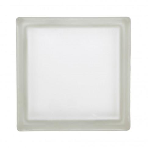 Caramida sticla alba, misty clear, interior / exterior, 19 x 19 x 8 cm
