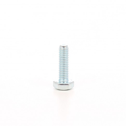 Surub cu cap hexagonal, filetat complet, otel, zincat alb, M6 x 20 mm