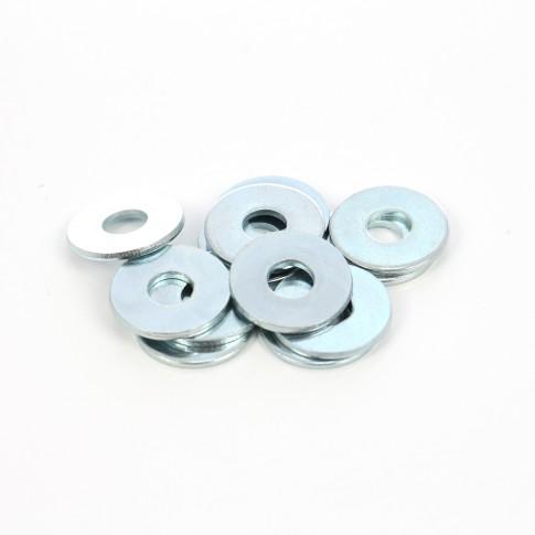 Saiba plata din otel zincat alb, DIN522C, M6 x 24 x 1.2 mm