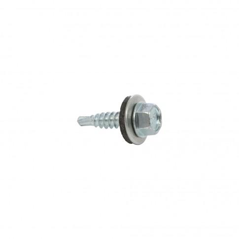Surub pentru tigla metalica, autoforant, Gunnebo, zincat, 4,8 x 20 mm, 250 bucati