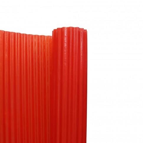 Acoperis ondulat, armat cu fibra de sticla, rosu, 40 x 2 m